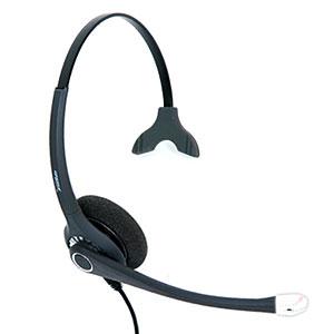 FreeMate DH-027TFNM monaurales Headset mit flex-micro, DS-QD