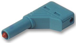 Hirschmann Winkelstecker berührungsgeschützt, blau