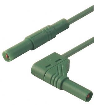 Meßleitung berühungssicher, 4mm, grün, Länge:2m