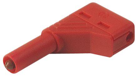 Hirschmann Winkelstecker berührungsgeschützt, rot