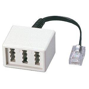 UAE-Adapter WE8 - TAE NFN mit Verlängerung 0,1m