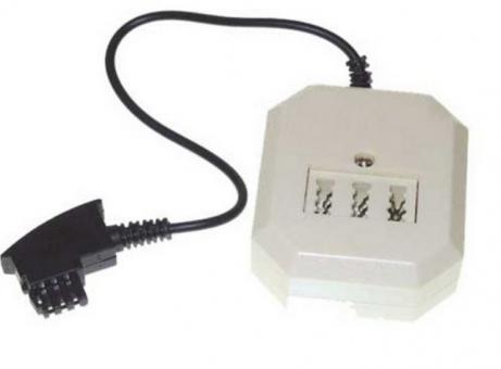 TAE F-Stecker auf TAE NFN Buchse und RJ11-Buchse