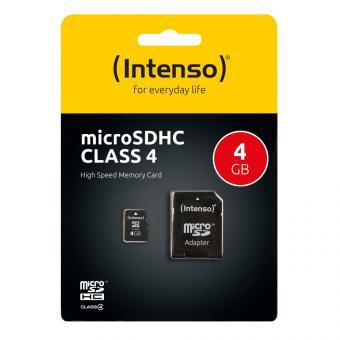 Intenso microSDHC Speicherkarte 4GB Class 4