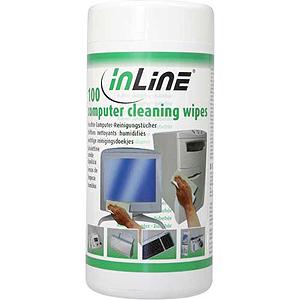 InLine® Reinigungstücher, feuchte Computerreinigungstücher,
