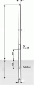 LUPUSEC Kameramast aus Aluminium - konisch, Höhe 4,00 m
