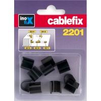 Inofix Cablefix Verbindungen für 2201 Kanäle (8x7mm) schwarz