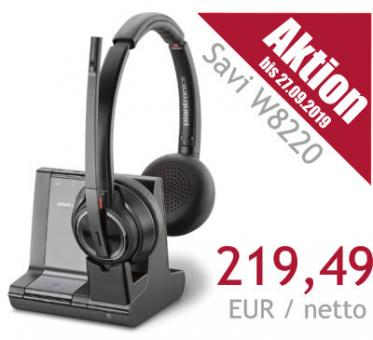 Poly® DECT Headset Savi W8220 USB binaural, ANC