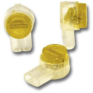 Verbinder UY2 -gelb-, gefüllt für Draht mit D=0,4 - 0,9 mm