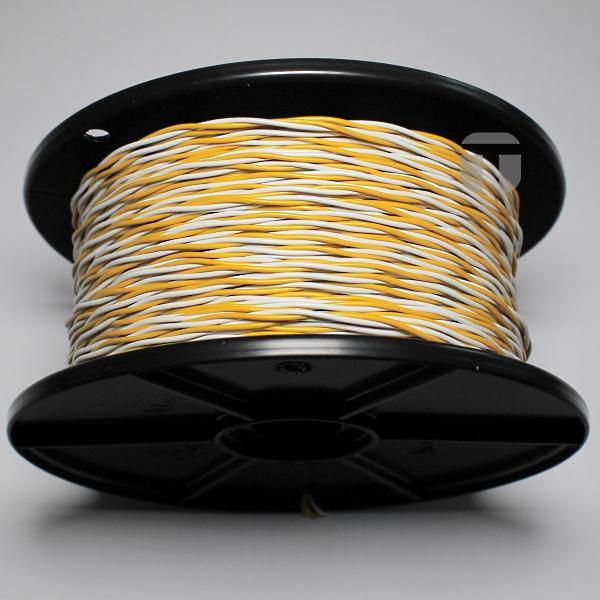 YV-Draht 2X0,6/1,1-weiß-gelb auf Spule zu 100 m